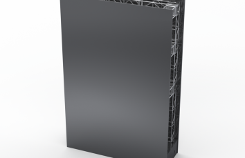 30ft tall x 20ft  wide banner structure rendering
