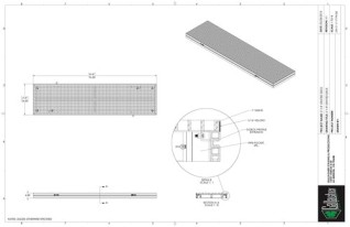 Stage Deck - Grated 2ft x 8ft GDECK