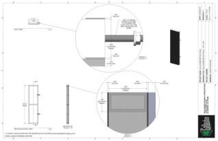 Set Flat - 1ft x 4ft Set Flat Wall