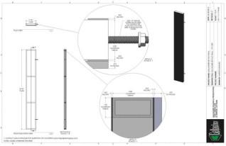 Set Flat - 1ft x 8ft Set Flat Wall