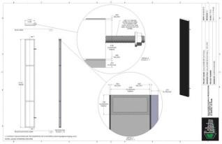 Set Flat - 1ft x 9ft Set Flat Wall