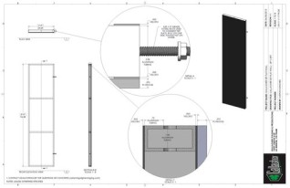 Set Flat - 2ft x 8ft Set Flat Wall