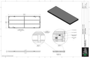 Stage Deck - 3ft x 8ft G-Deck Staging Platform