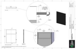 Set Flat - 3ft x 4ft Set Flat Wall