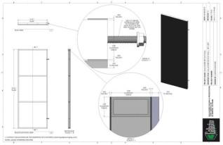 Set Flat - 3ft x 8ft Set Flat Wall