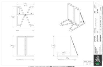 Aluminum Barricade Wing