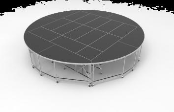 Rolling Round Platform