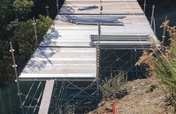 Ring Scaffold Bridge under construction